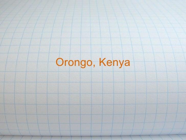 Orongo, Kenya Agriculture