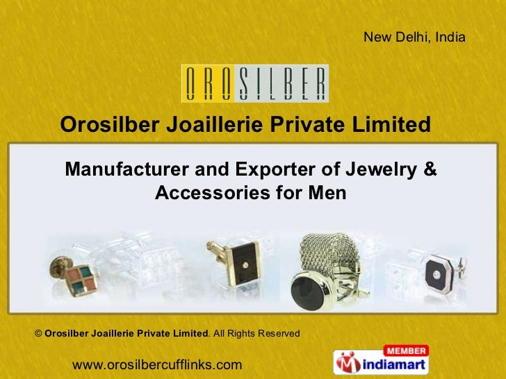 Manufacturer and Exporter of Jewelry & Accessories for Men ©  Orosilber Joaillerie Private Limited . All Rights Reserved