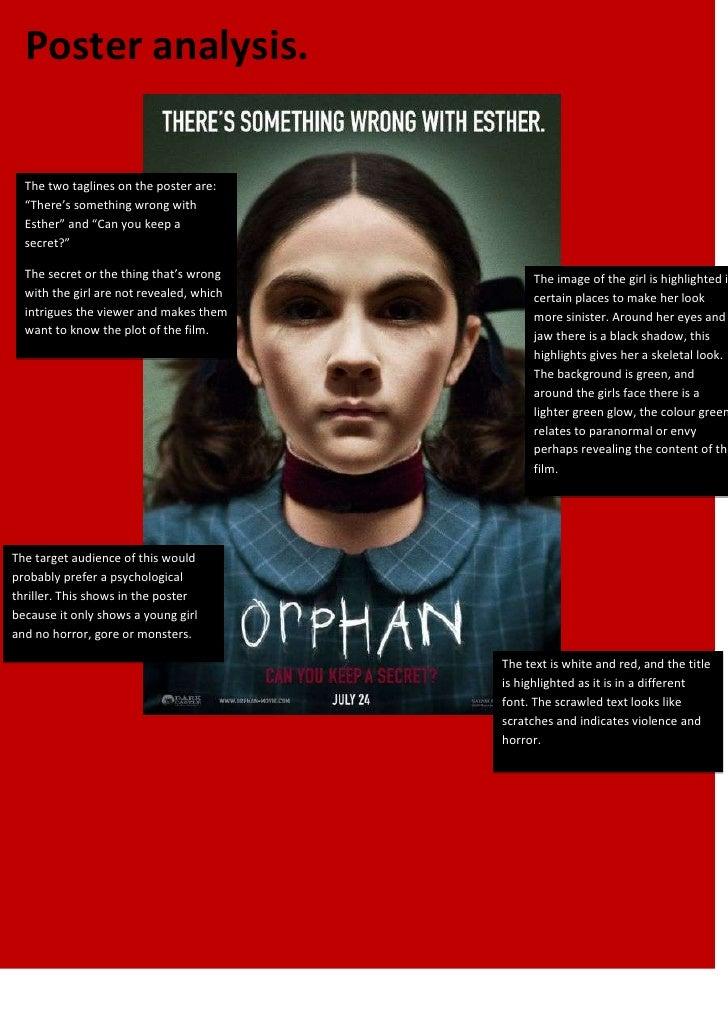 Orphan poster analysis
