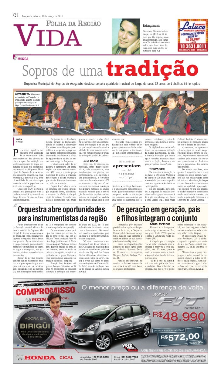 C1         Araçatuba, sábado, 19 de março de 2011                                                                         ...