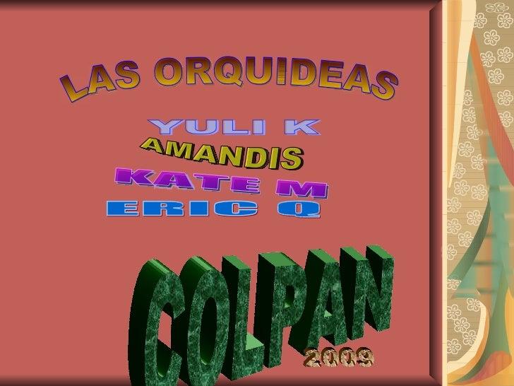 LAS ORQUIDEAS YULI K  AMANDIS KATE M ERIC Q COLPAN 2009