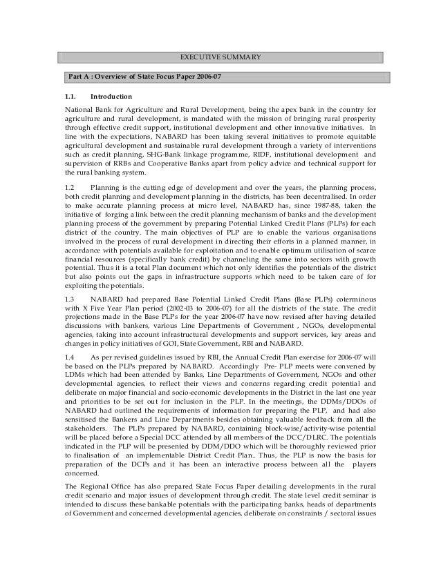Orrissa Executive Summary For Finance Subsidy Amp Project
