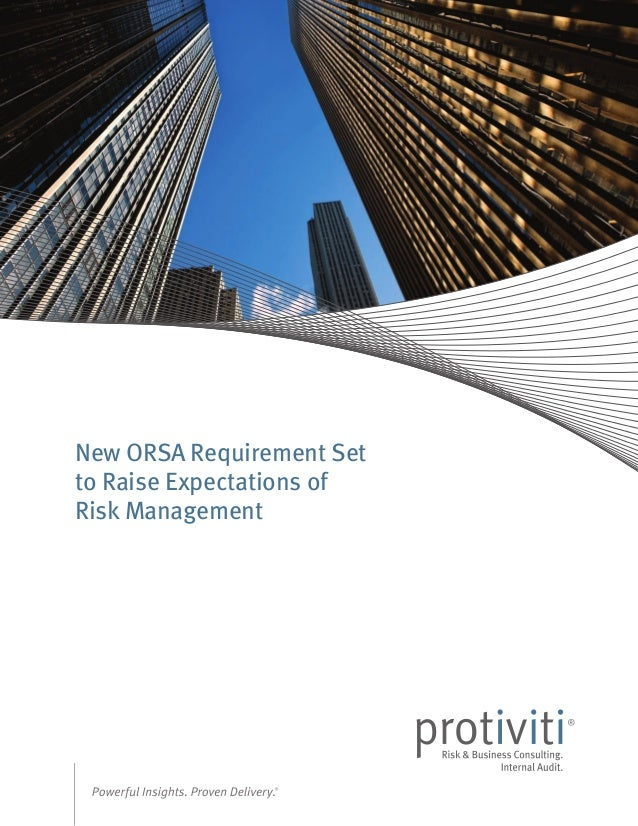 New ORSA Requirement Set to Raise Expectations of Risk Management