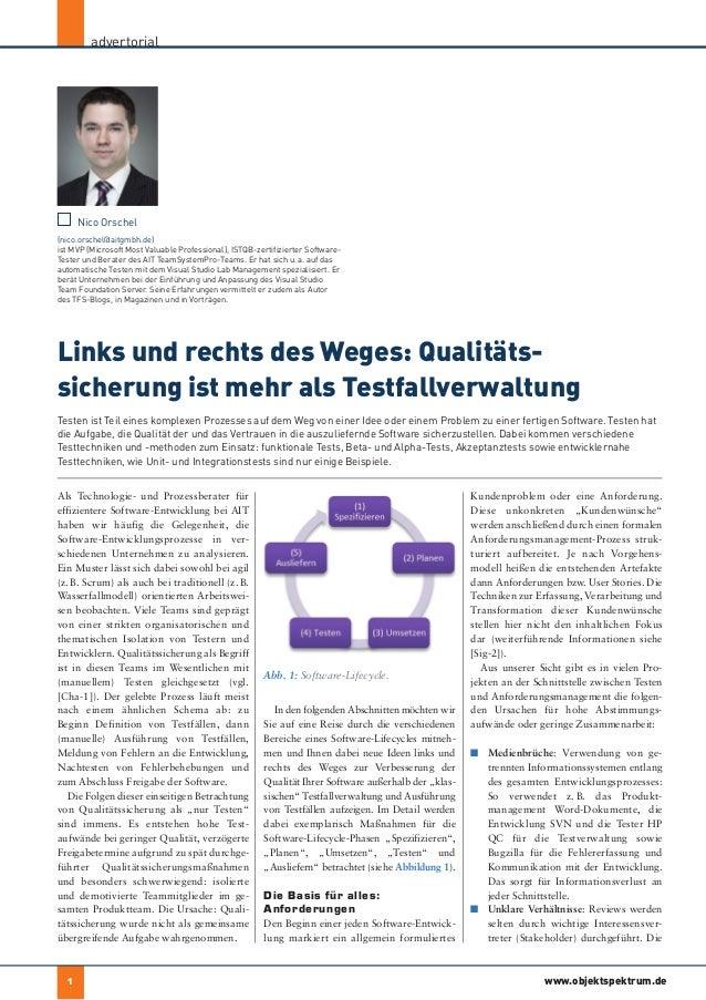 Links und rechts des Weges: Qualitätssicherung ist mehr als Testfallverwaltung