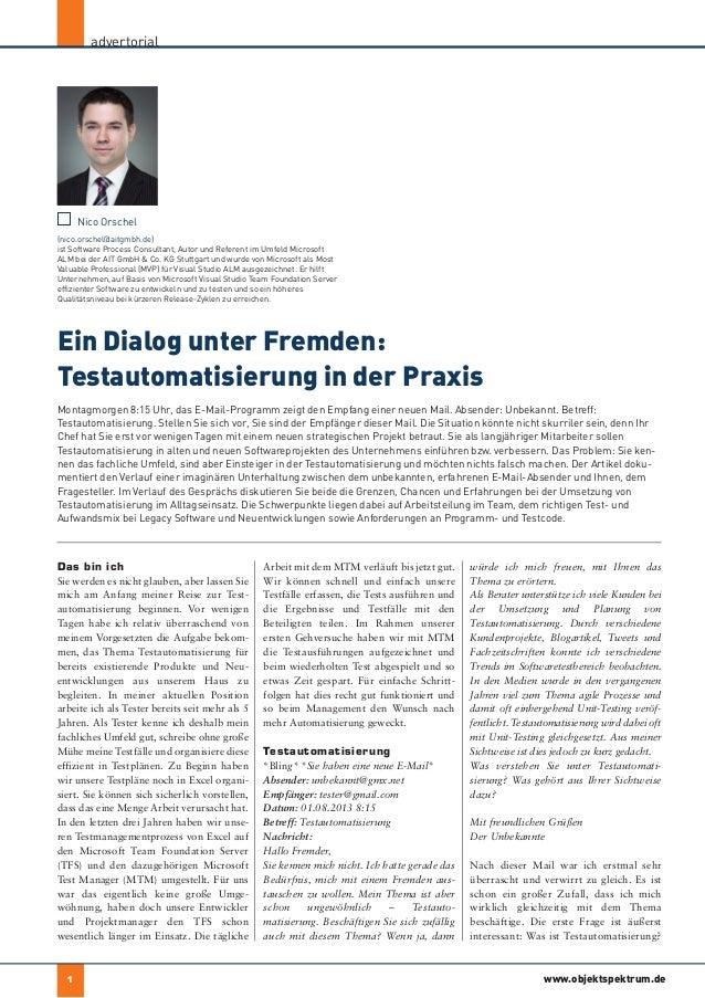 Ein Dialog unter Fremden: Testautomatisierung in der Praxis