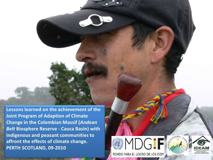 Lessons learned on the achievement of the Joint Program of Climate Change Adaption in the Colombian Massif  [Luis Alfonso Ortega]