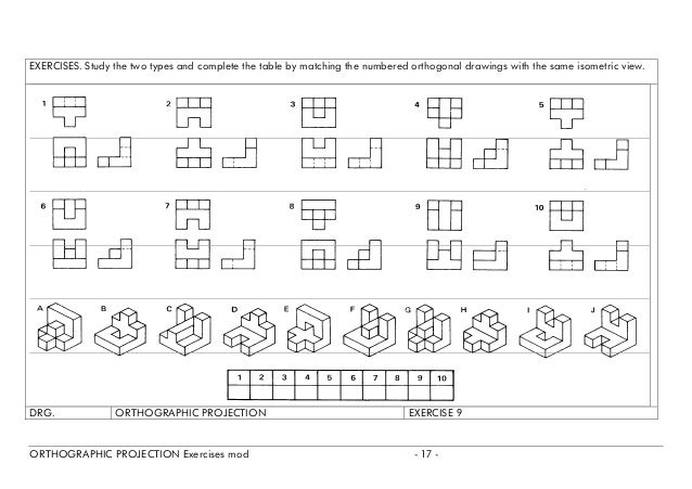 All Worksheets Orthographic Projection Worksheets Printable – Isometric Drawing Worksheet
