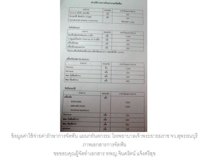 Ortho price list 2012