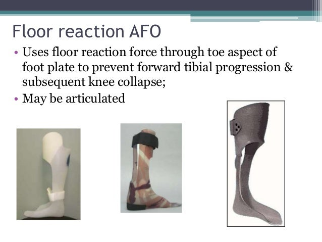 Orthosis for Floor reaction afo