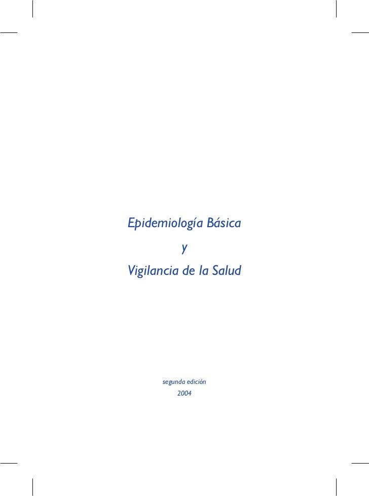 Epidemiología. Módulo 5.