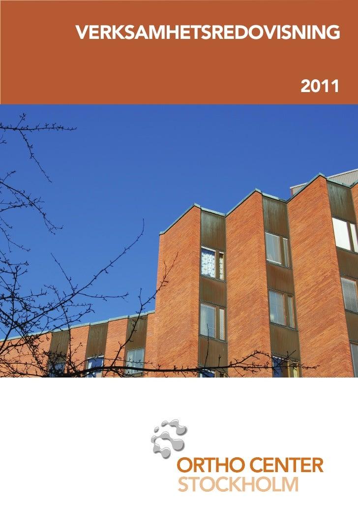 Orto center stockholm verksamhetsberättelse 2011