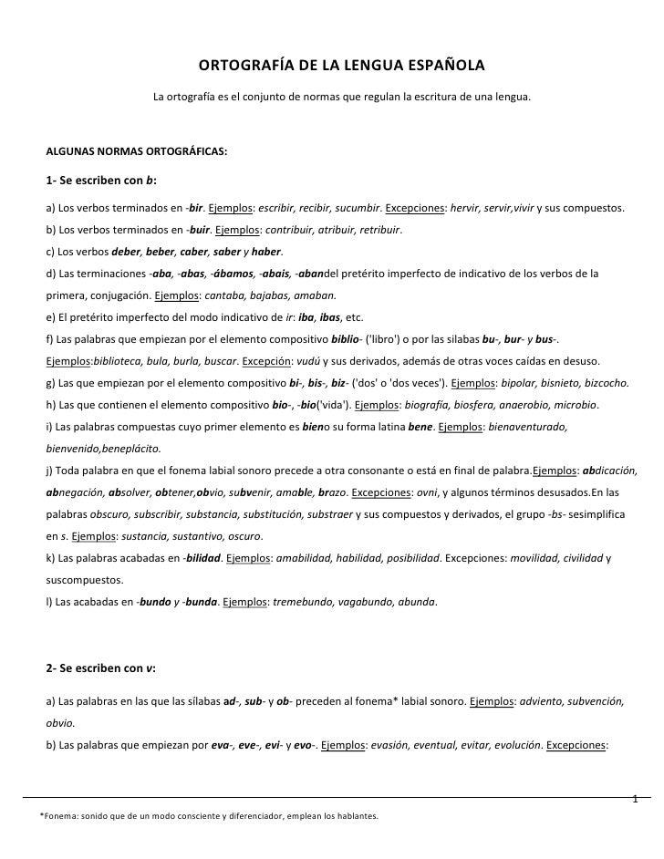 ORTOGRAFÍA DE LA LENGUA ESPAÑOLA                           La ortografía es el conjunto de normas que regulan la escritura...