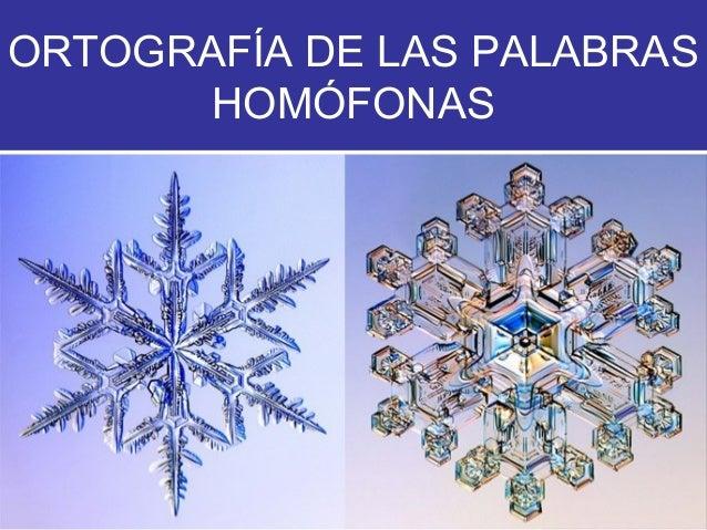 ORTOGRAFÍA DE LAS PALABRAS HOMÓFONAS