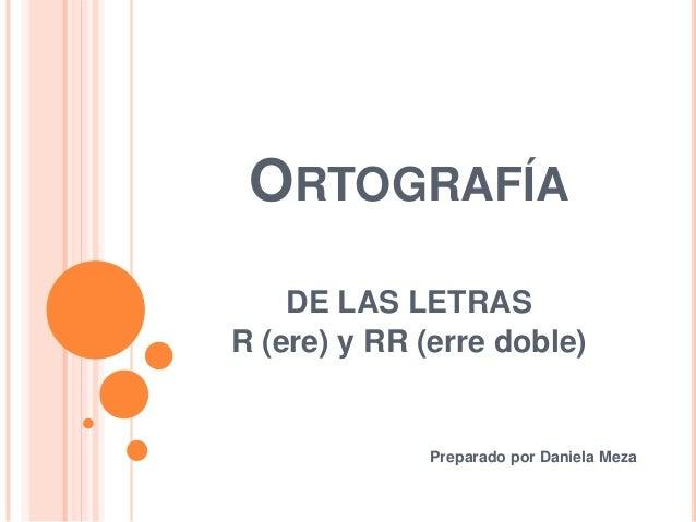 Ortografía rr