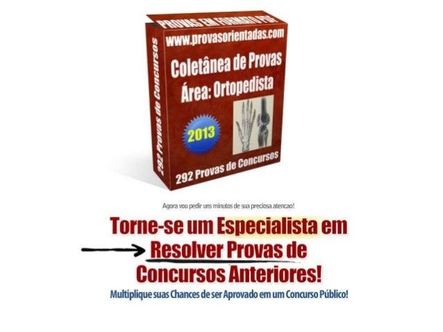 Coletânea de provas Ortopedista