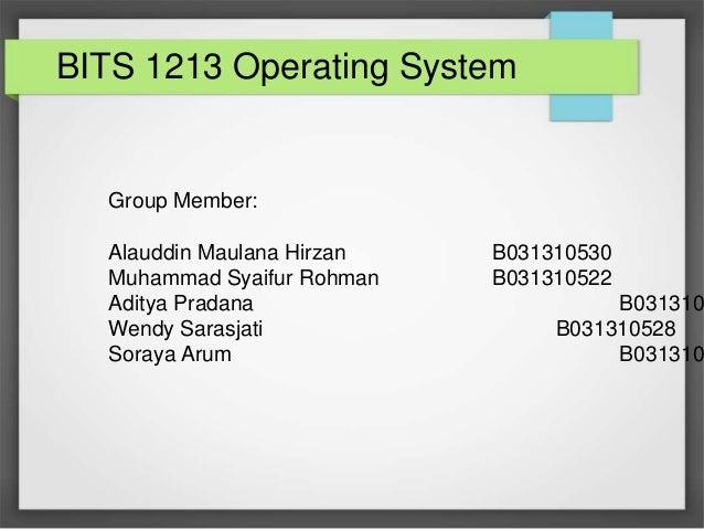 Group Member: Alauddin Maulana Hirzan B031310530 Muhammad Syaifur Rohman B031310522 Aditya Pradana B031310 Wendy Sarasjati...