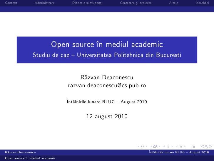 Context          Administrare     Didactic si studenti                                            ,        ,    Cercetare ...