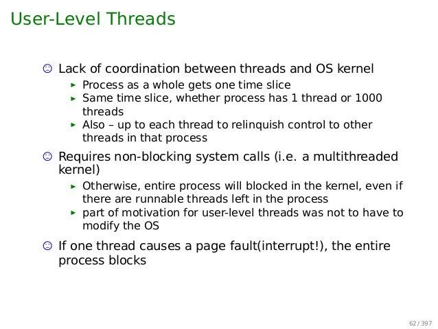 Hybrid Level Threads User-level Threads Onto