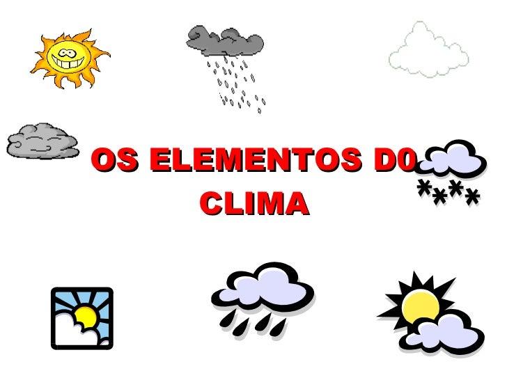 Factores do Clima - Temperatura