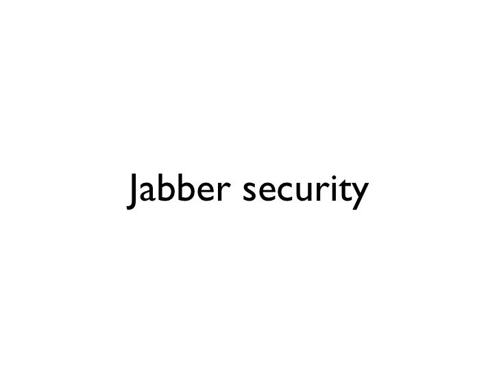 Jabber security