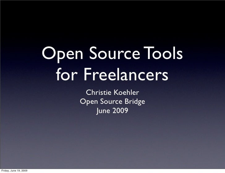 Open Source Tools For Freelancers