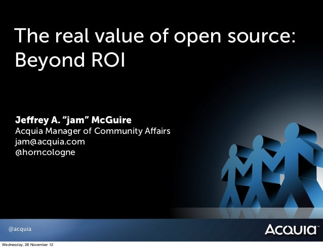 Open Source Value: Beyond ROI