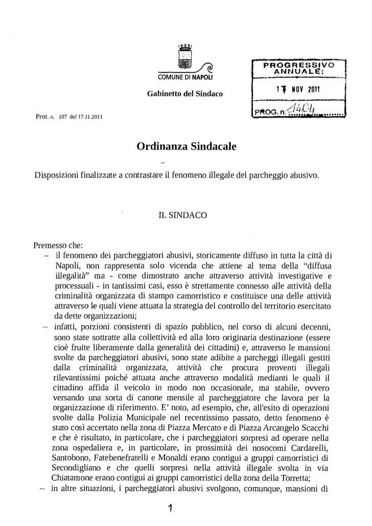 ANNUALE:                                       COMUNE DI NAPOLI                                    Gabinetto del Sindaco  ...