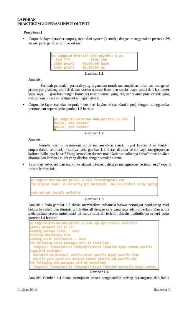 OPERASI INPUT OUTPUT di Linux