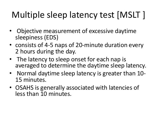Sleep latency study
