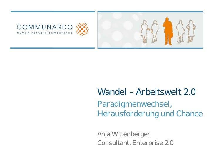 Wandel zur Arbeitswelt 2.0