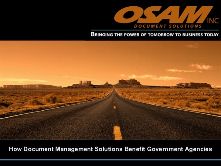 How Document Management Solutions Benefit Government Agencies