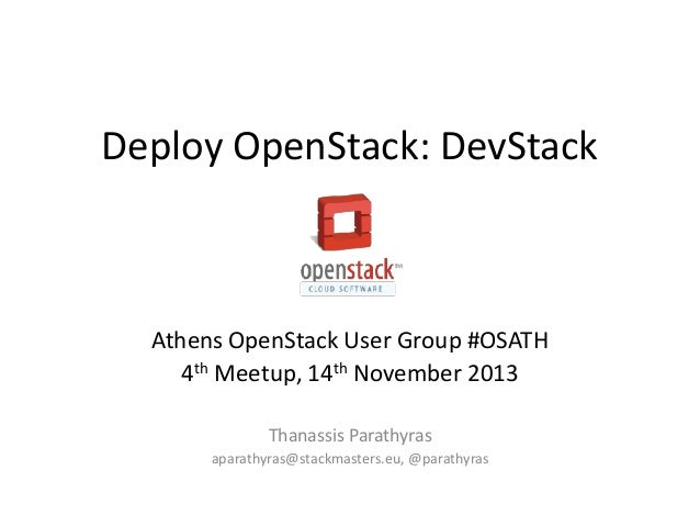 #OSATH Deploy OpenStack: DevStack