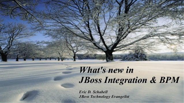 What's new in JBoss Integration & BPM 1  Eric D. Schabell JBoss Technology Evangelist