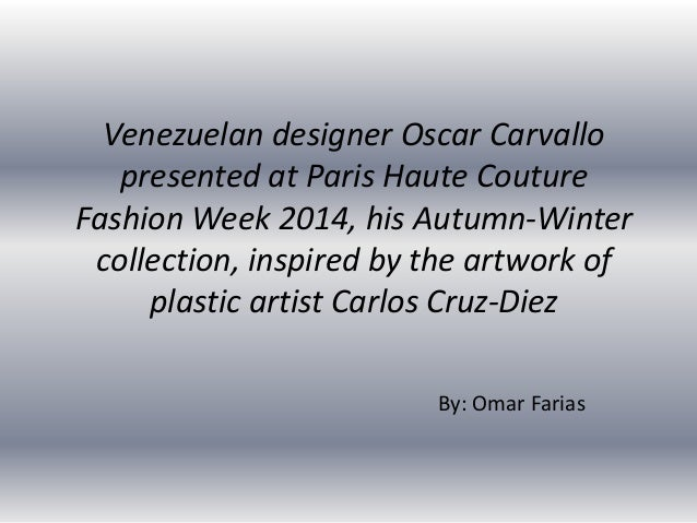 Oscar Carvallo Autumn-Winter collection at Paris Haute Couture Fashion Week 2014