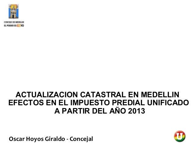 Sesión Predial Medellín - Presentación Óscar hoyos
