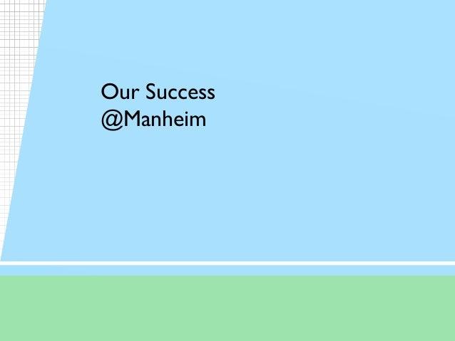 Our Success @Manheim