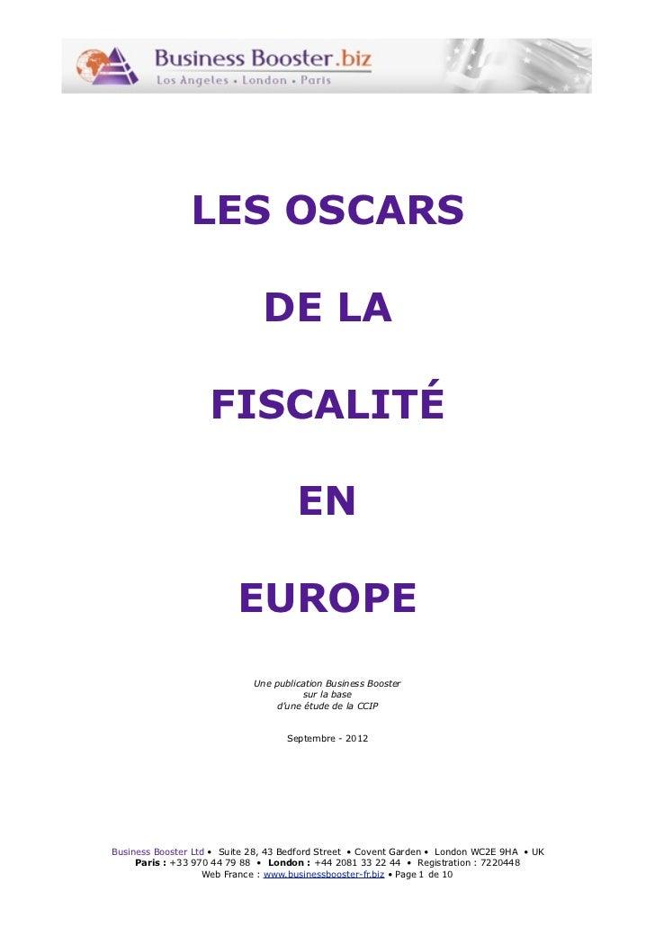 LES OSCARS                               DE LA                    FISCALITÉ                                      EN       ...