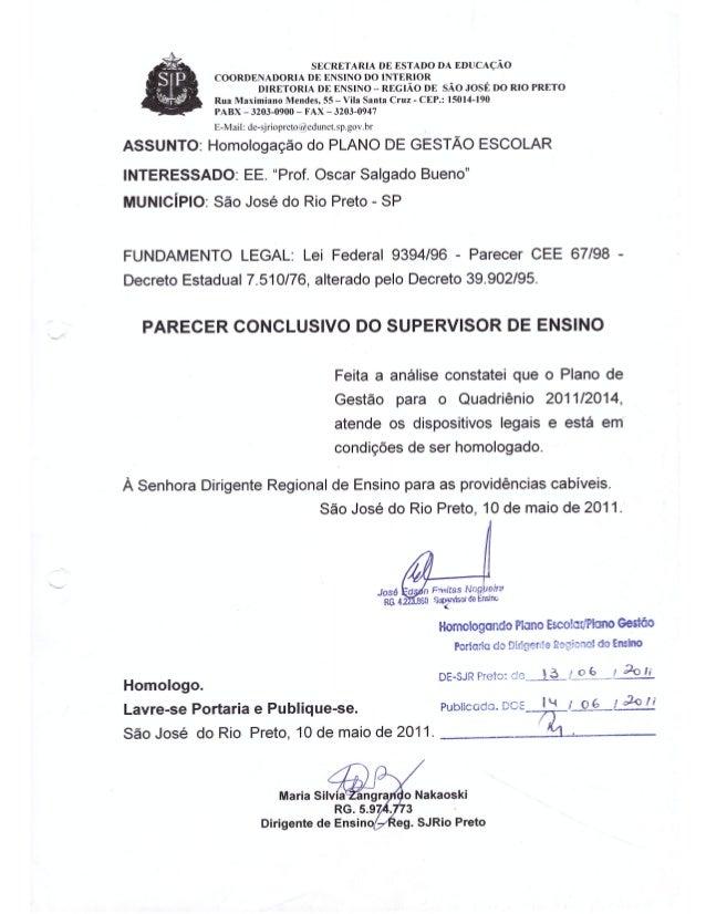 Plano Gestão Prof Oscar Salgado Bueno