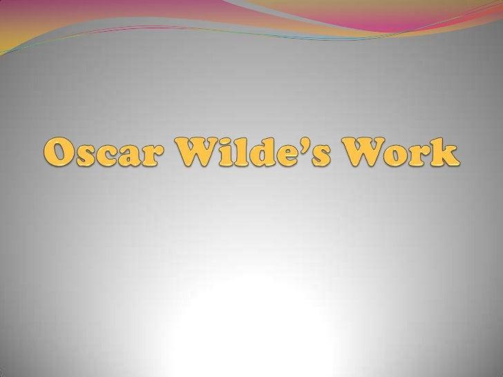 Oscar Wilde's work