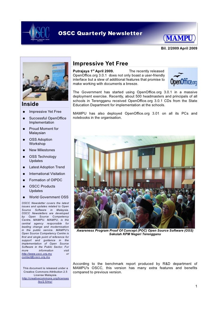 OSCC Quarterly Newsletter                                                                                                 ...