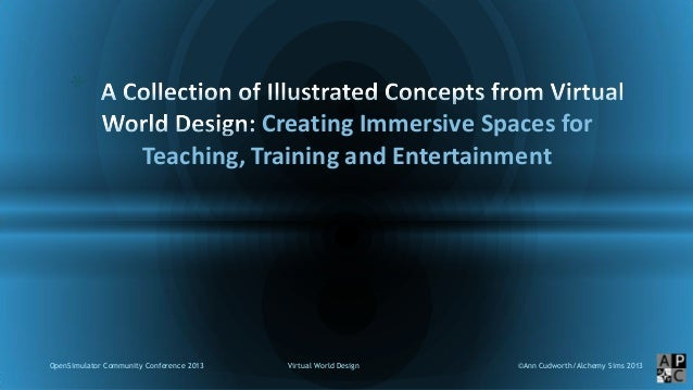 Virtual World Design: Creating Immersive Spaces for Teaching Training and Entertainment