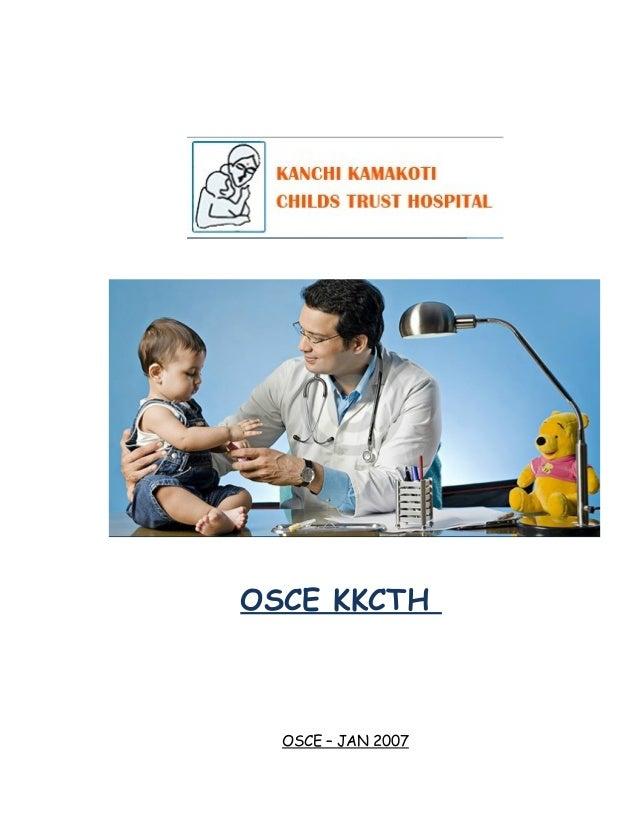 OSCE KKCTH  OSCE – JAN 2007