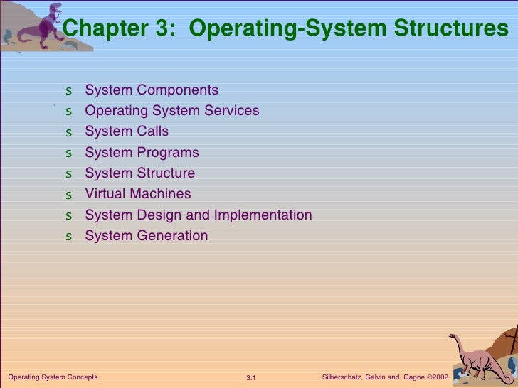 Chapter 3:  Operating-System Structures <ul><li>System Components </li></ul><ul><li>Operating System Services </li></ul><u...