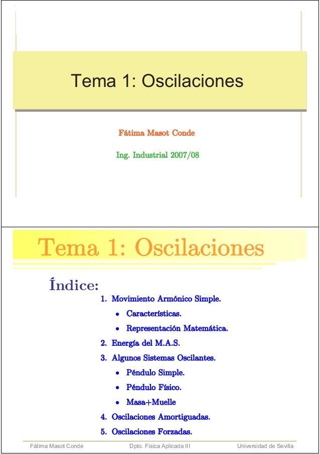 Tema 1: Oscilaciones                                                              1/45                       Tema 1: Oscil...