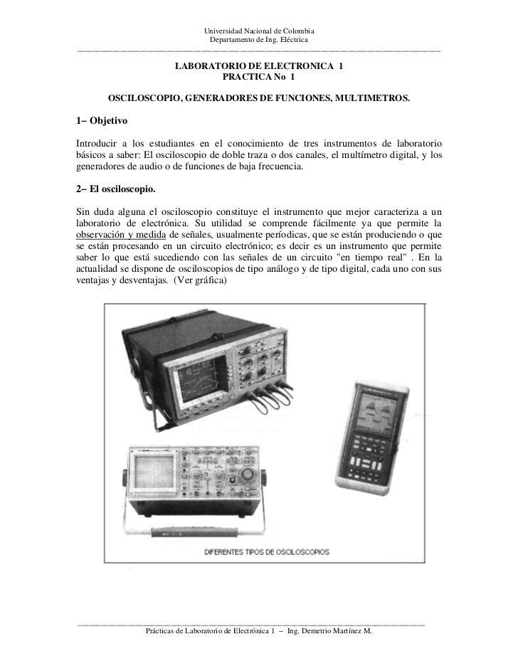 Universidad Nacional de Colombia                                   Departamento de Ing. Eléctrica ________________________...