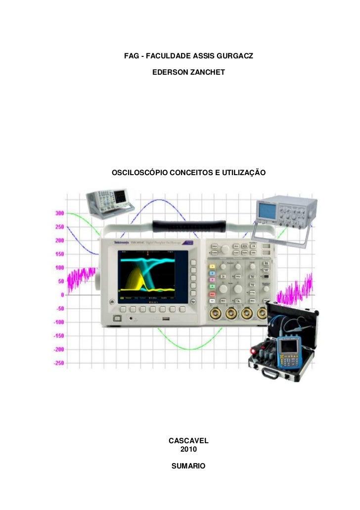 Osciloscpio conceitos e utilizao