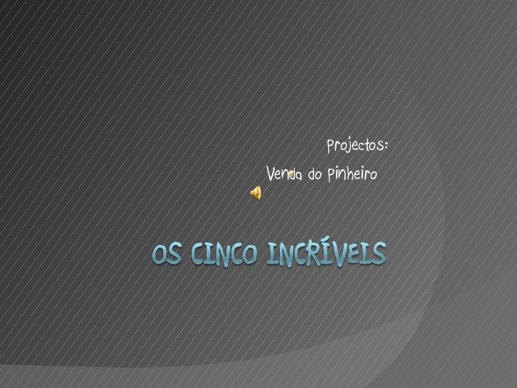 Projectos: Venda do Pinheiro