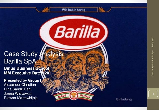 barilla spa a case study Access to case studies expires six months after purchase date  barilla spa, an  italian manufacturer that sells to its retailers largely through.