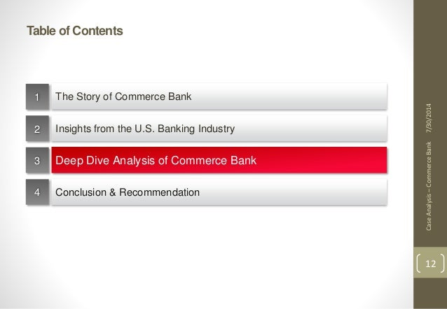bank case study analysis Banking case studies and digital case studies from fiserv demonstrate how our technology solutions help save money and morton community bank case study september.