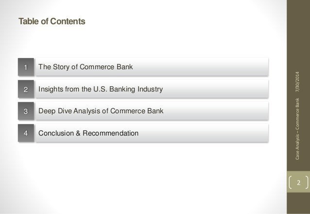 harvard business school case study commerce bank Company's success, track down the harvard business school case study on commerce bank, authored by francis frei, the new guru on service excellence ( wwwhbspharvardedu) at the risk of oversimplifying the case, commerce bank is making a killing providing outstanding service using a simple interview technique.